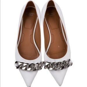 Givenchy Ballet Pointed Toe Silver Chain Link Vamp